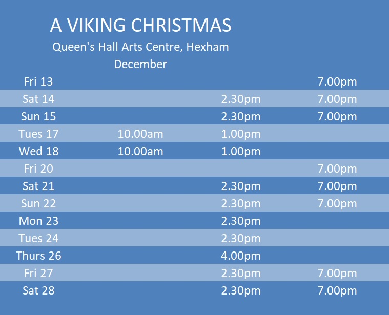Viking Christmas.A Viking Christmas Queen S Hall Arts Centre